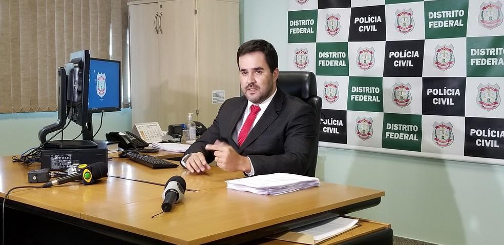 Delegado Gleyson Mascarenhas, titular da 5ª DP (Plano Piloto. — Foto: Pedro Alves/G1