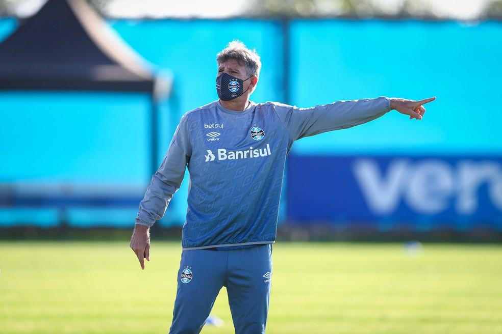 Renato Gaúcho, técnico do Grêmio — Foto: Lucas Uebel / Grêmio FBPA