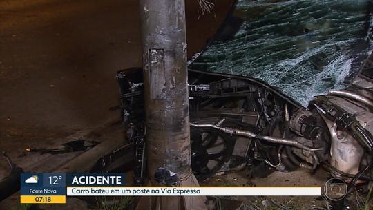 Duas pessoas ficam feridas em acidente no bairro Coração Eucarístico, em BH