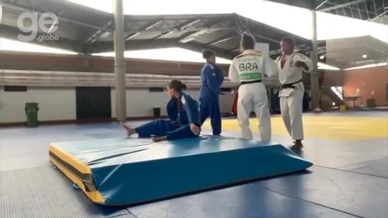 Sarah Menezes treina em Portugal com seleção brasileira de Judô