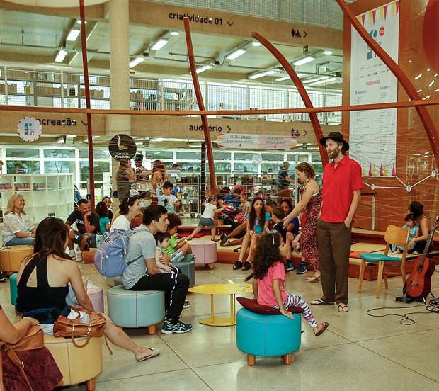 Vinicius Mazzon, contador de histórias, no Festival Crescer 2018 (Foto: Alexandre Di Paula)
