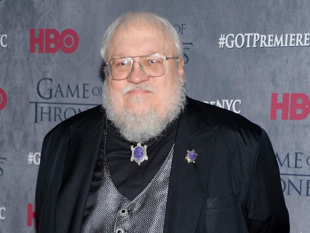 George R. R. Martin, autor de 'Game of thrones', em evento da HBO em março de 2014 — Foto: Evan Agostini/Invision/AP, File