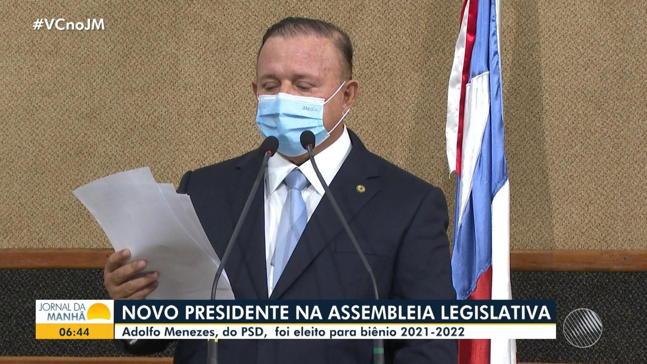 Deputado Adolfo Menezes, do PSD, é eleito o presidente da Assembleia Legislativa da Bahia