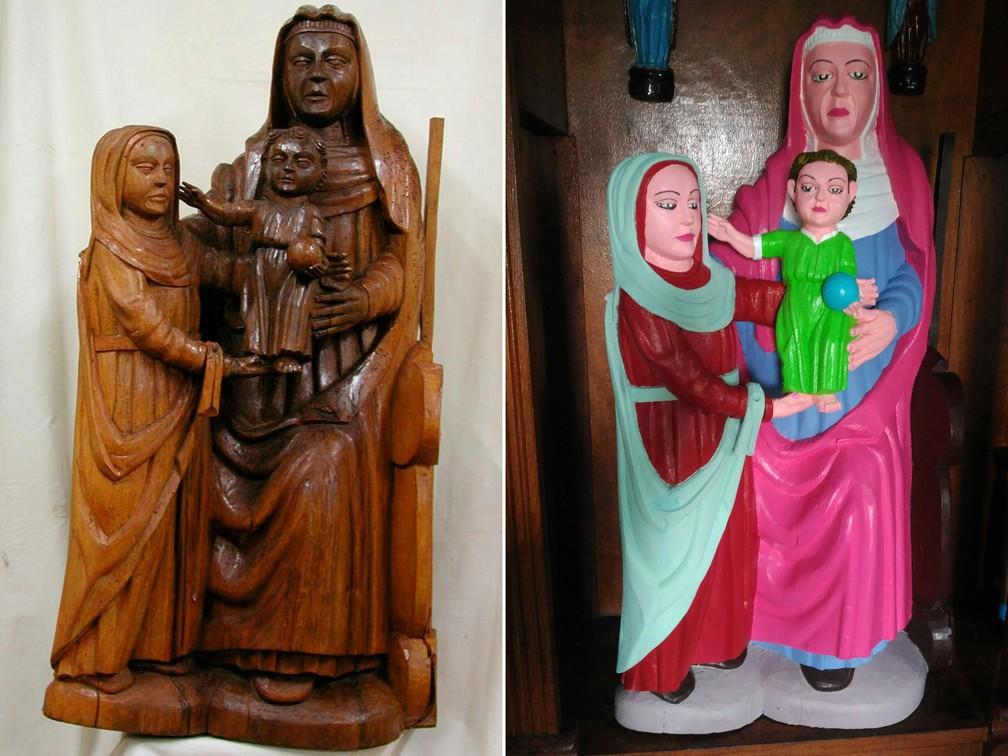 -  Antes e depois da restauração  Foto: DSF/AFP