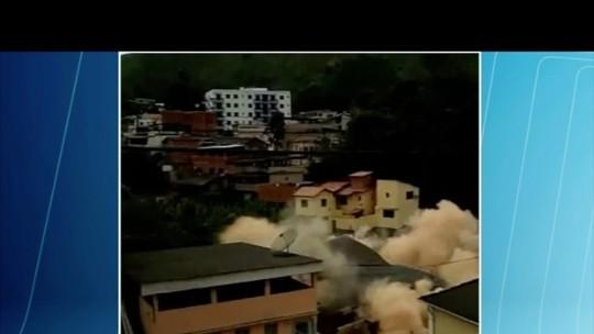 Morador de prédio que desabou em Manhumirim conta que escapou por telhado do vizinho