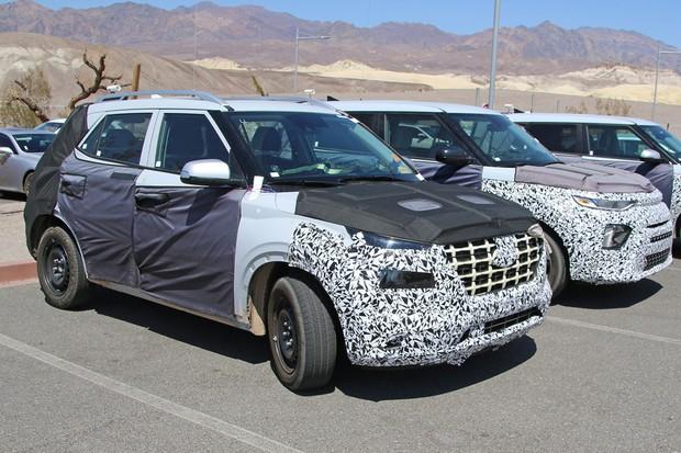 Novo crossover da Hyundai foi flagrado em testes nos Estados Unidos (Foto: AutoMedia/Autoesporte)