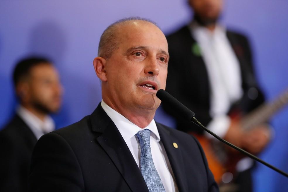 O ministro Onyx Lorenzoni — Foto: Alan Santos/PR