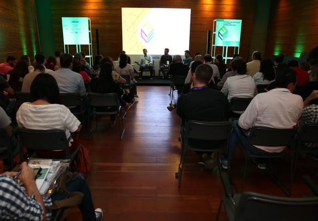 Palestra sobre corporate venture no FICE 2018 (Foto: Alexandre DiPaula)
