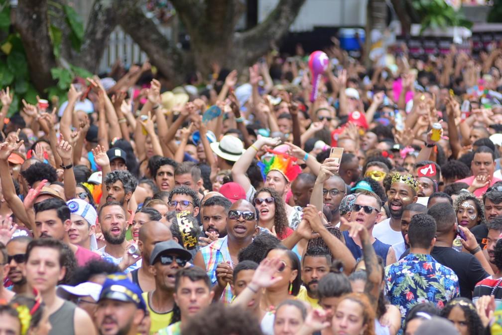 Público curtindo último oficial do carnaval 2020 em Salvador  — Foto: Enaldo Pinto/Ag Haack