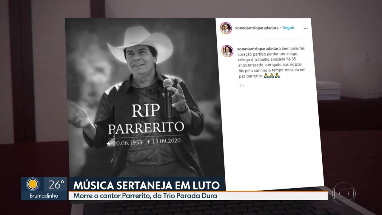 O adeus ao cantor Parrerito, do Trio Parada Dura
