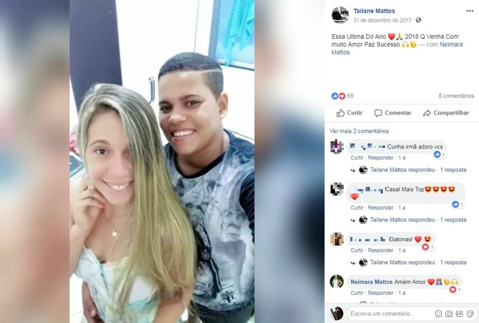Casal de namoradas é morto após serem baleadas em Araci — Foto: Reprodução/Redes Sociais