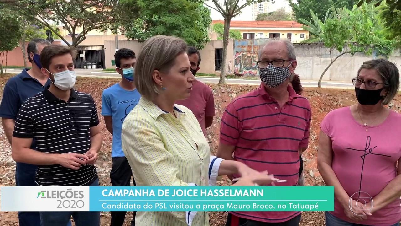 Joice Hasselmann fez campanha na zona leste da capital