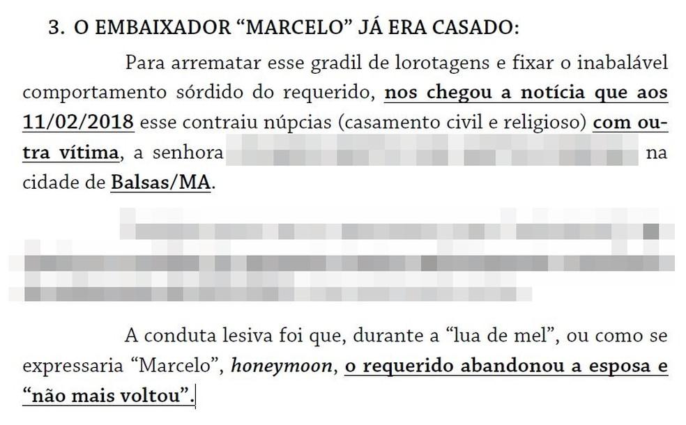 Processo que denunciou Marcelo Henrique Morato Castilho — Foto: Reprodução