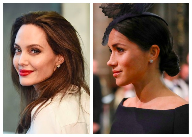 As atrizes Angelina Jolie e Meghan Markle (Foto: Getty Images)