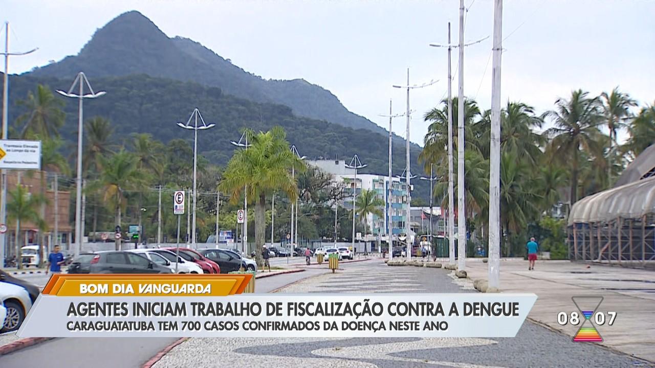 Agentes iniciam trabalho de fiscalização contra a dengue em Caraguá