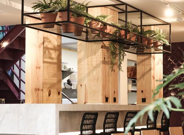 A natureza está por toda parte do restaurante (Foto: Divulgação)