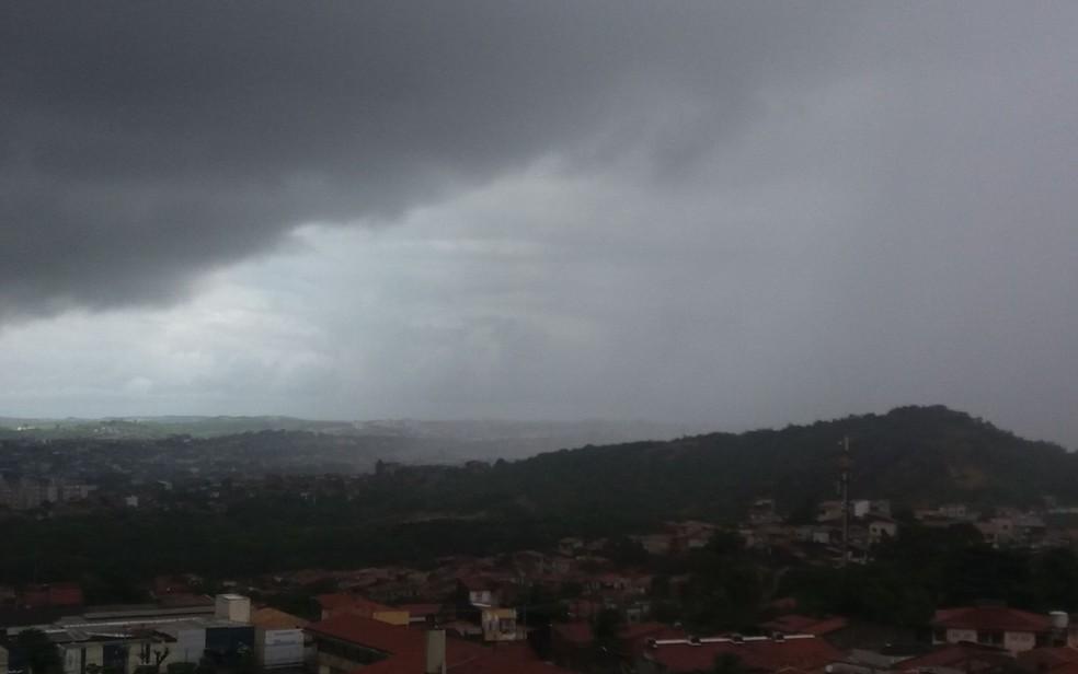 Chuva em Sergipe — Foto: Anderson Barbosa/G1/Arquivo
