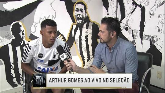 Arthur Gomes fala da cobrança de pênalti que garantiu o Santos na semi do Paulista
