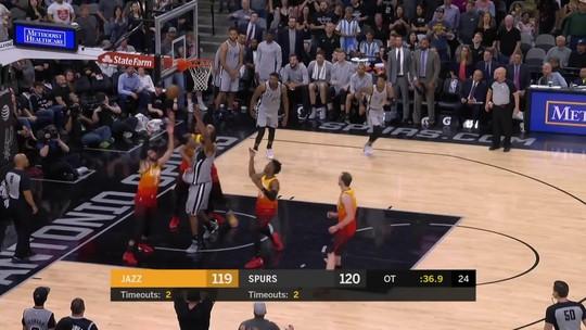 Melhores momentos: Utah Jazz 120 x 124 San Antonio Spurs pela NBA