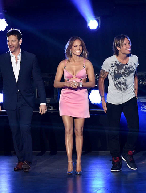 Jennifer Lopez em American Idol (Foto: Getty Images)