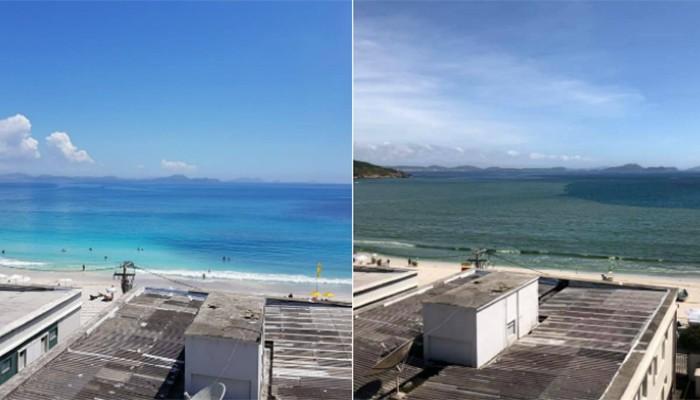 Antes e depois da Prainha (Foto:  Lucas Pasqual Balestieri)
