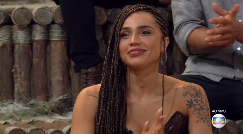 Paula Amorim na final de 'No Limite' — Foto: Reprodução / TV Globo