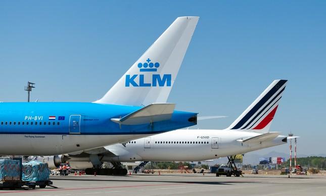Aviões da Air France e da KLM