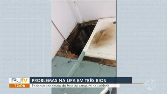 Pacientes reclamam de falta de estrutura na UPA de Três Rios