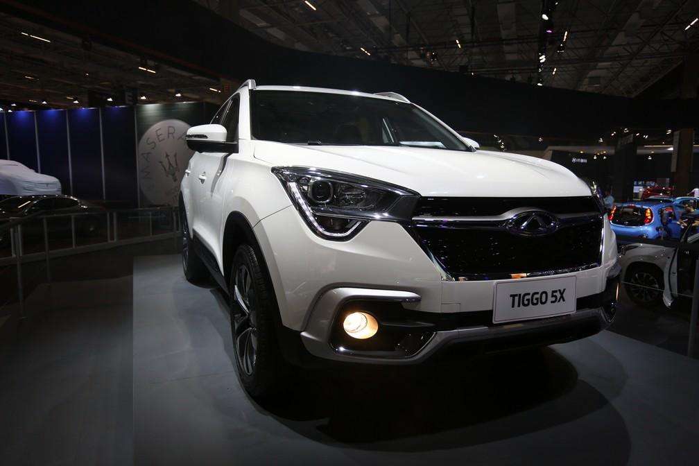 Tiggo 5X apresentado pela Chery no Salão do Automóvel 2018 — Foto: Marcelo Brandt/G1