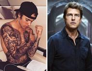 """Justin Bieber refaz desafio de lutar contra Tom Cruise e garante: """"ele não é o que você vê nos filmes"""""""