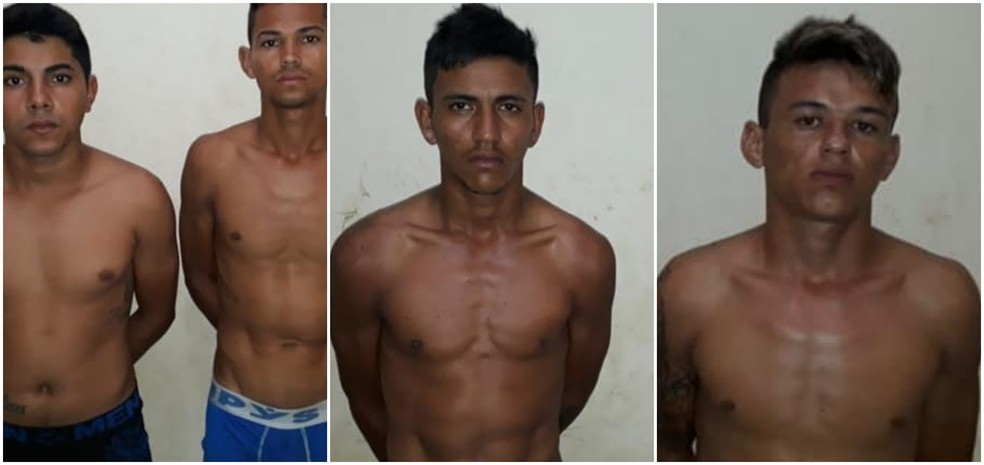 Quatro pessoas foram presas e um menor apreendido suspeitos de participação em homicídio — Foto: Divulgação/PM-AC