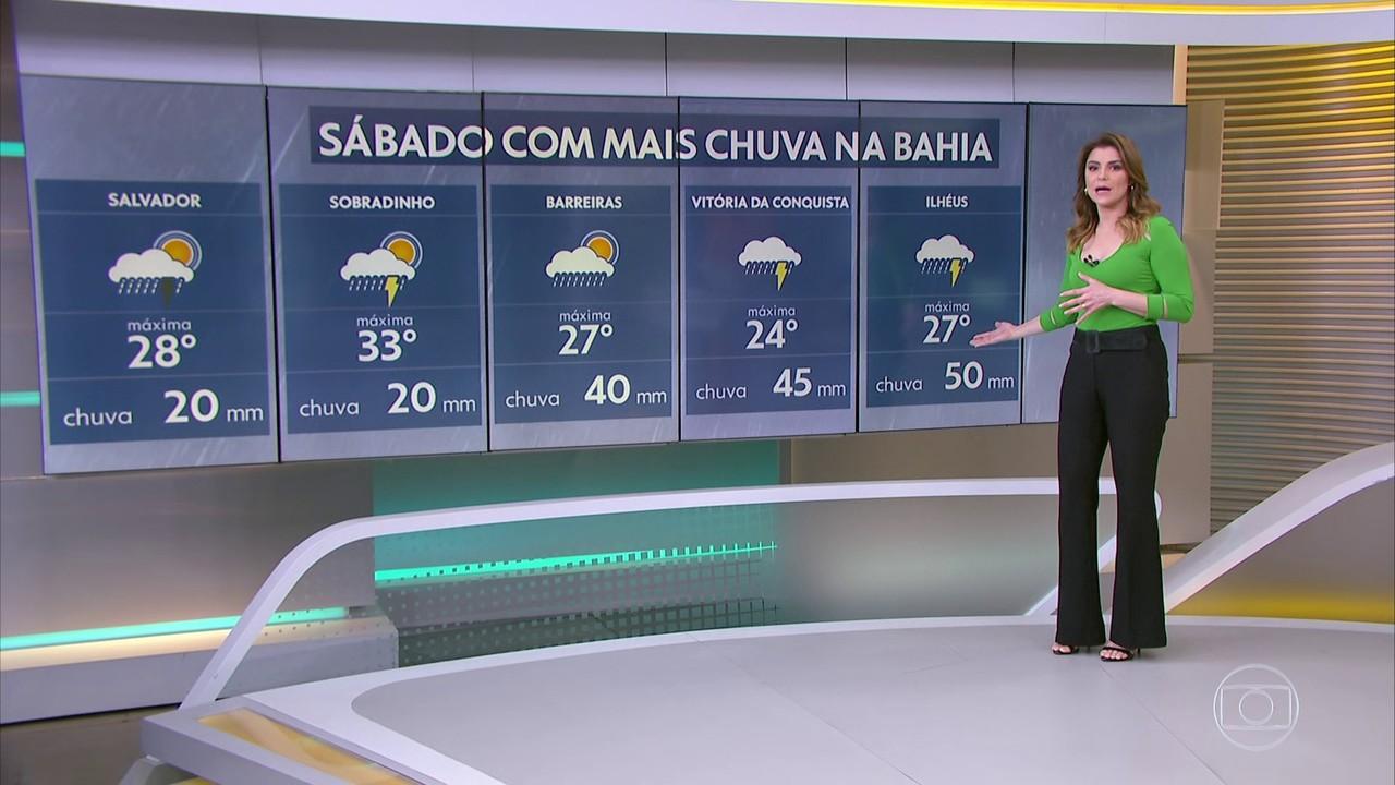 Bahia ainda tem previsão de temporais. Região norte também.