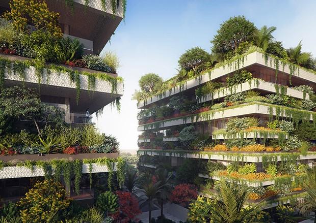Nova capital do Egito terá prédios que parecem florestas verticais (Foto: Divulgação)