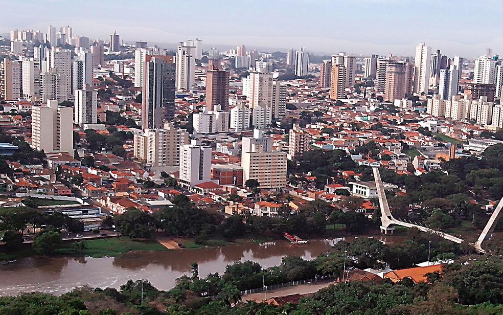 Vista aérea de Piracicaba — Foto: Divulgação
