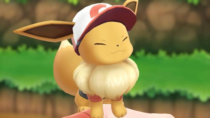 Eevee é um dos parceiros de Pokémon Let's Go (Foto: Reprodução/Murilo Tunholi)