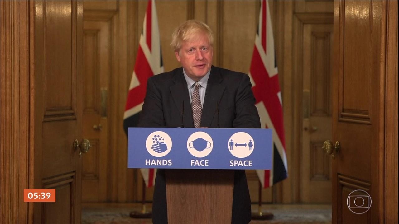 Primeiro-ministro do Reino Unido oficializa novas medidas de isolamento social