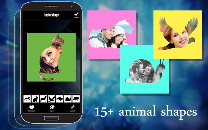 Pic Shapes é um aplicativo para fazer montagens com fotos (Foto: Divulgação)