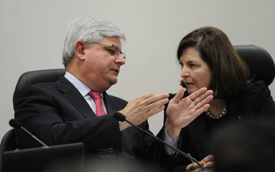 Rodrigo Janot  e Raquel Dodge (Foto: Antonio Cruz/Agência Brasil)