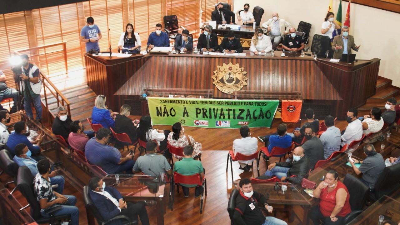 Audiência debate riscos e prejuízos da privatização do sistema de água e esgoto no AC