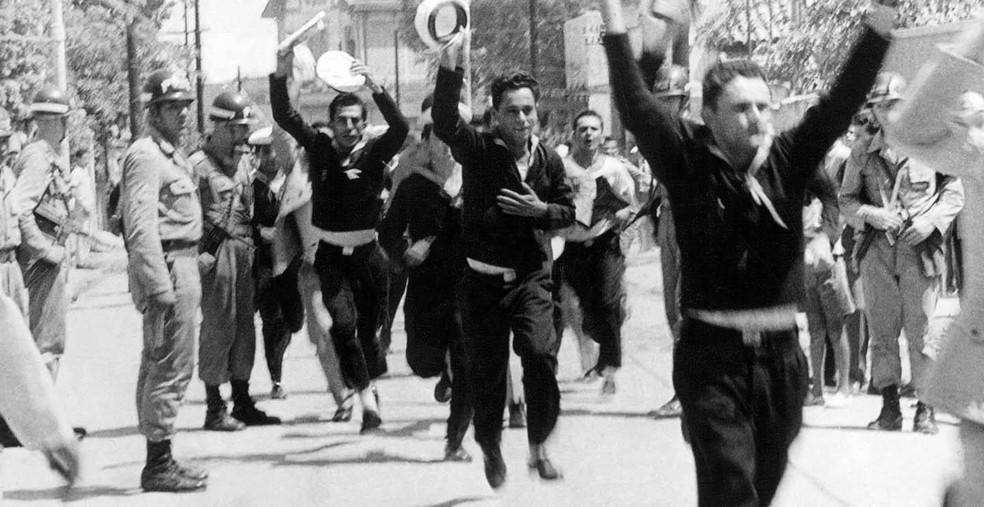 Imagem da Revolta dos Marinheiros, que aconteceu em 24 de março de 1964 no Rio — Foto: Folhapress