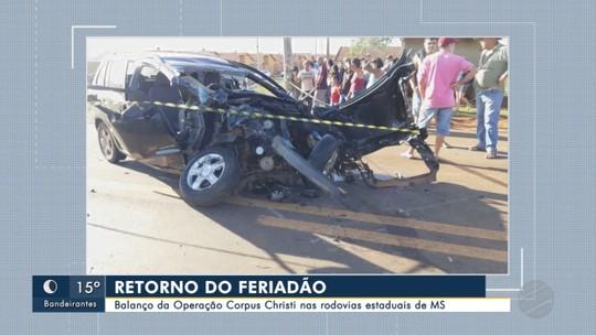 Motorista morre e esposa fica ferida em colisão entre dois carros na MS-376