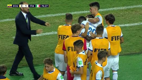 Itália vence o Equador e enfrenta o Brasil nas quartas de final do Mundial Sub-17