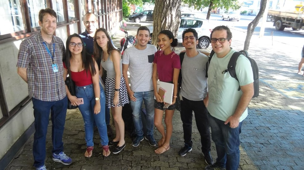 Equipe responsável pelo desenvolvimento do aplicativo se reuniu com o Ibama de Teresina - Piauí — Foto: Arquivo Pessoal/ Wedson Medeiros