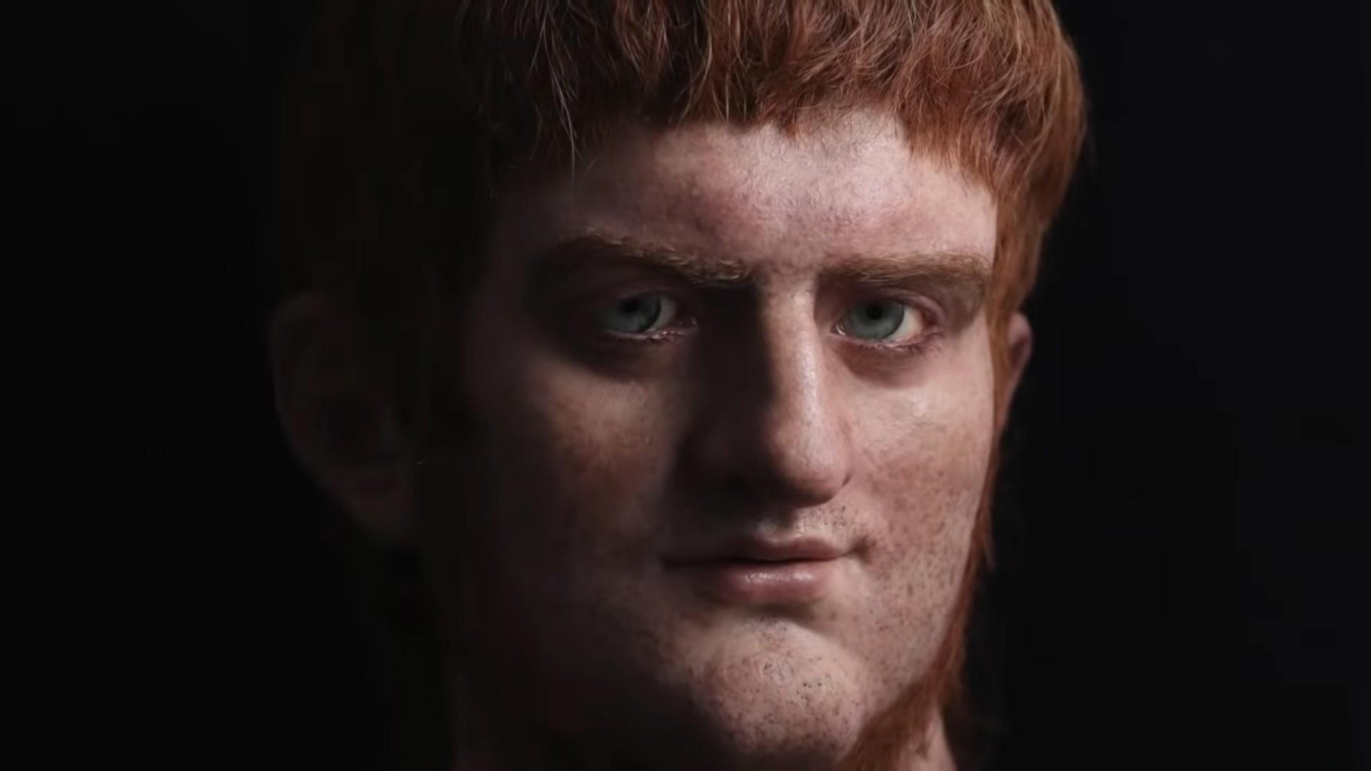 O projeto Césares de Roma fez uma representação do imperador romano Nero (Foto: Reprodução / YouTube)