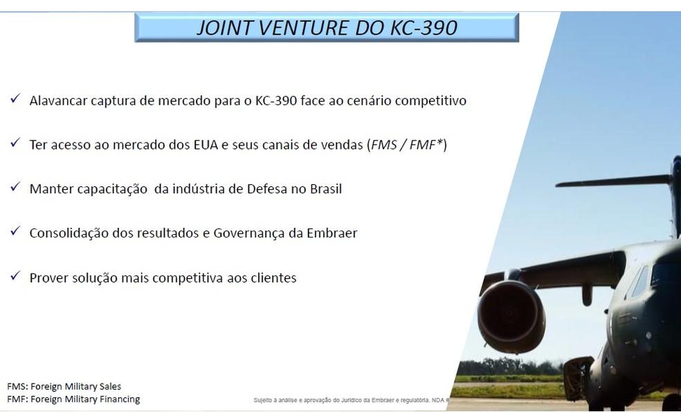 Material divulgado pela Presidência sobre o acordo Boeing-Embraer página 4 — Foto: Reprodução