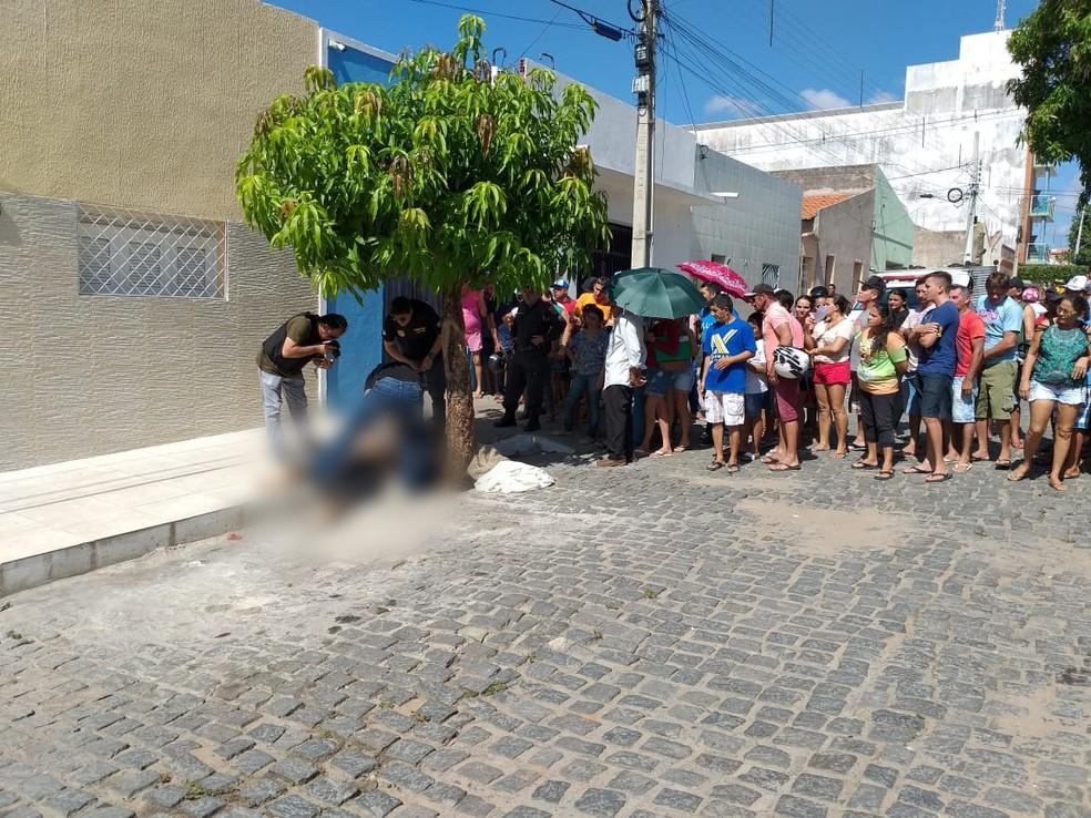 Crime aconteceu na manhã desta quinta-feira (16) em Apodi, na região Oeste potiguar — Foto: Marcelino Neto/O Câmera