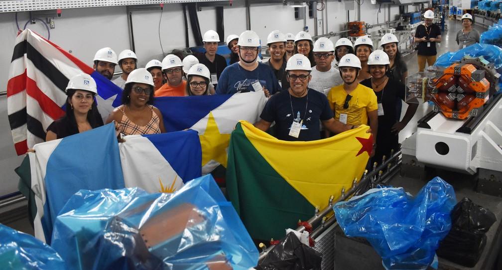Professores selecionados para a primeira edição do projeto fizeram imersão no CNPEM, em Campinas (SP) — Foto: Fernando Evans/G1
