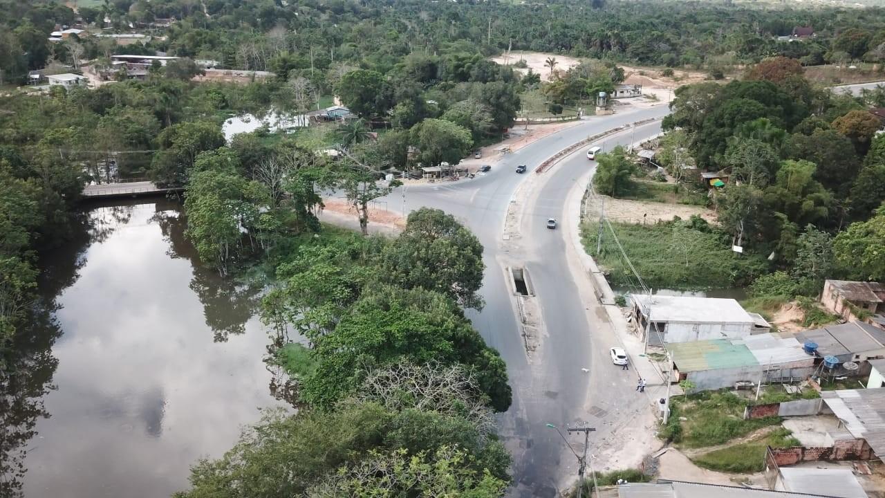 Trânsito na Estrada do Tarumã sofre alterações por conta de obras no Anel Viário Sul, em Manaus - Notícias - Plantão Diário