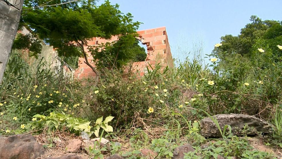 Local onde corpo de jovem foi encontrado em Novo Horizonte, na Serra, Espírito Santo — Foto: Roberto Pratti/ TV Gazeta