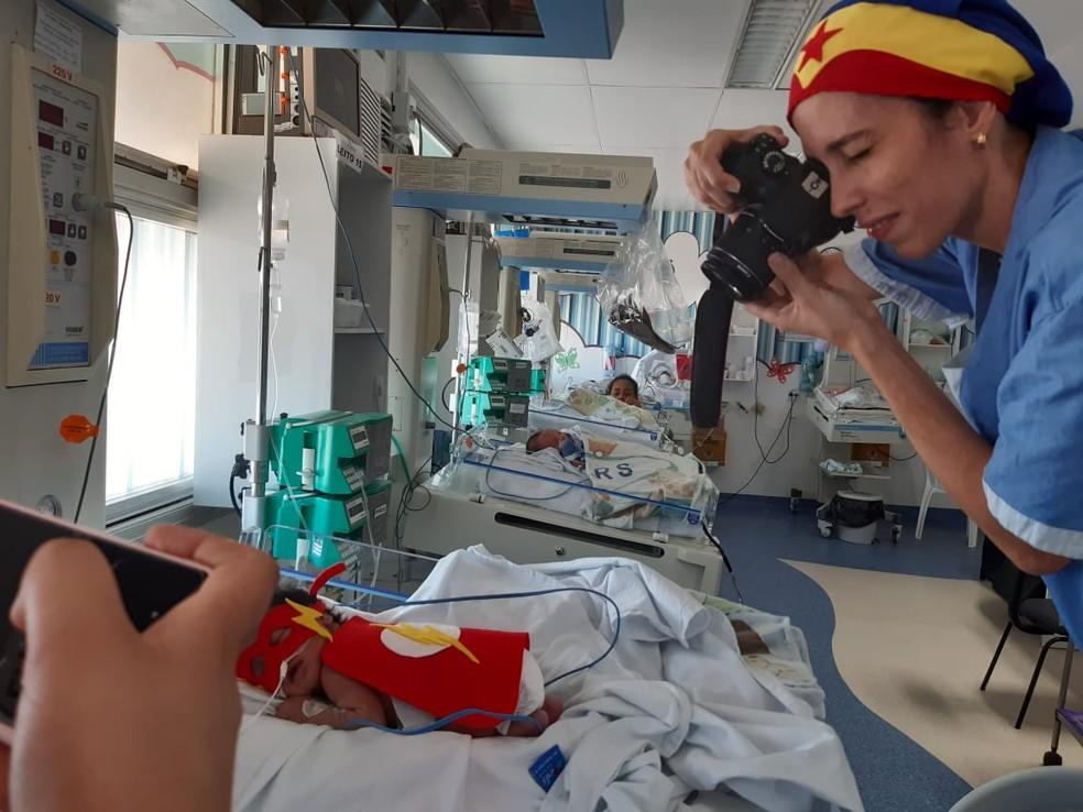 Finalidade da mostra é conscientizar sobre os partos prematuros — Foto: Divulgação/Hospital Geral Roberto Santos